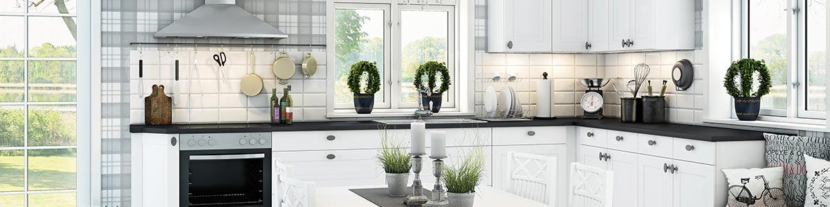 Hvidt romantisk sylt køkken Vordingborg