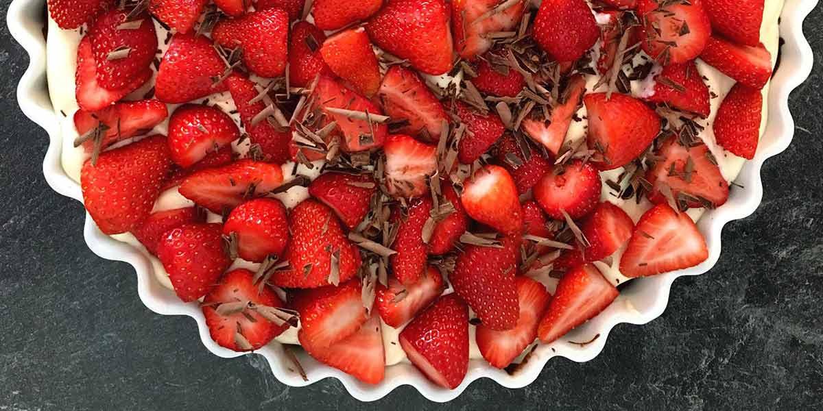 vordingborg køkkenet opskrifter gratis madretter dessert jordbærkage jordbærtærte