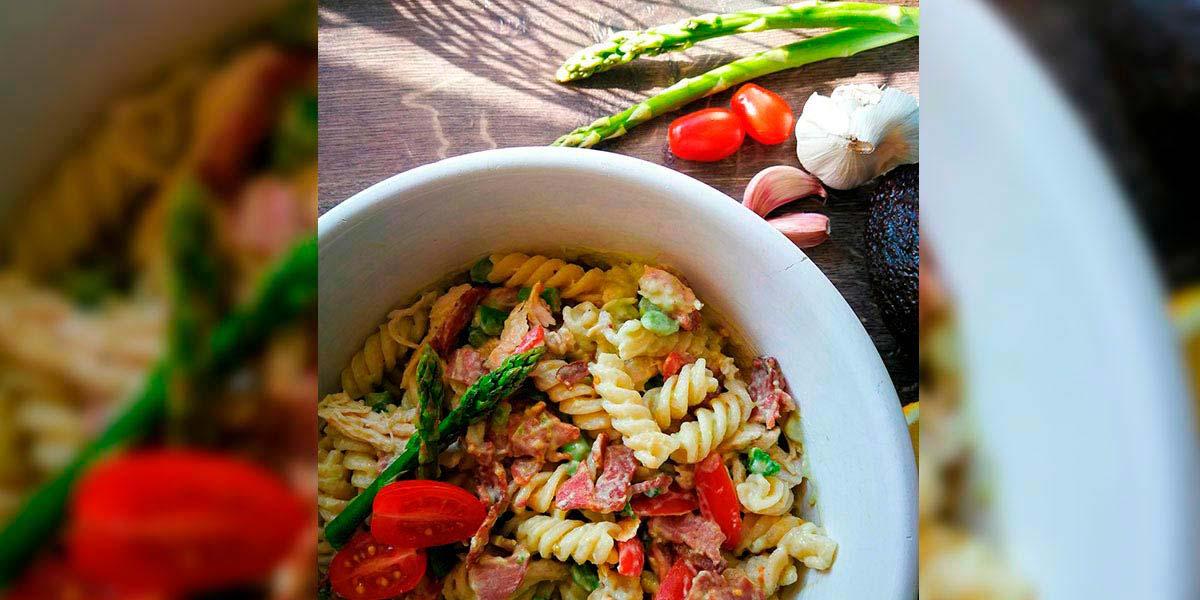 vordingborg køkkenet opskrifter gratis madretter pastasalat med avocado avocadodressing pasta