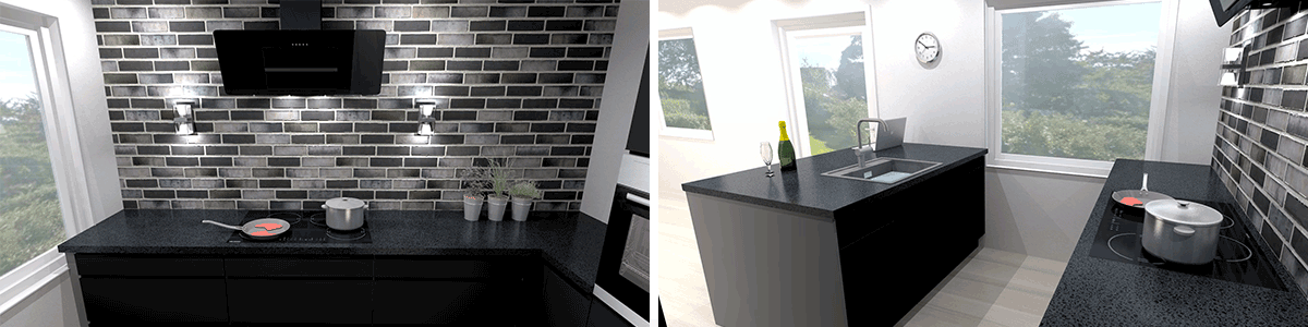 nyt køkken sort inspiration indretning vordingborg køkkenet