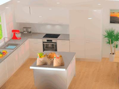 Hvidt køkken køkkentegning design vordingborg køkkenet