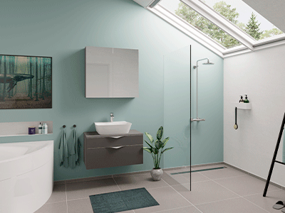 flash, nyt badeværelse, inspiration, Vordingborg Køkkenet