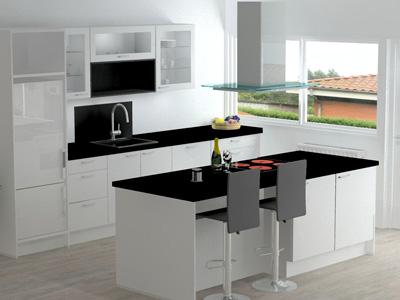 3D model viser hvordan dit køkken kan indrettes