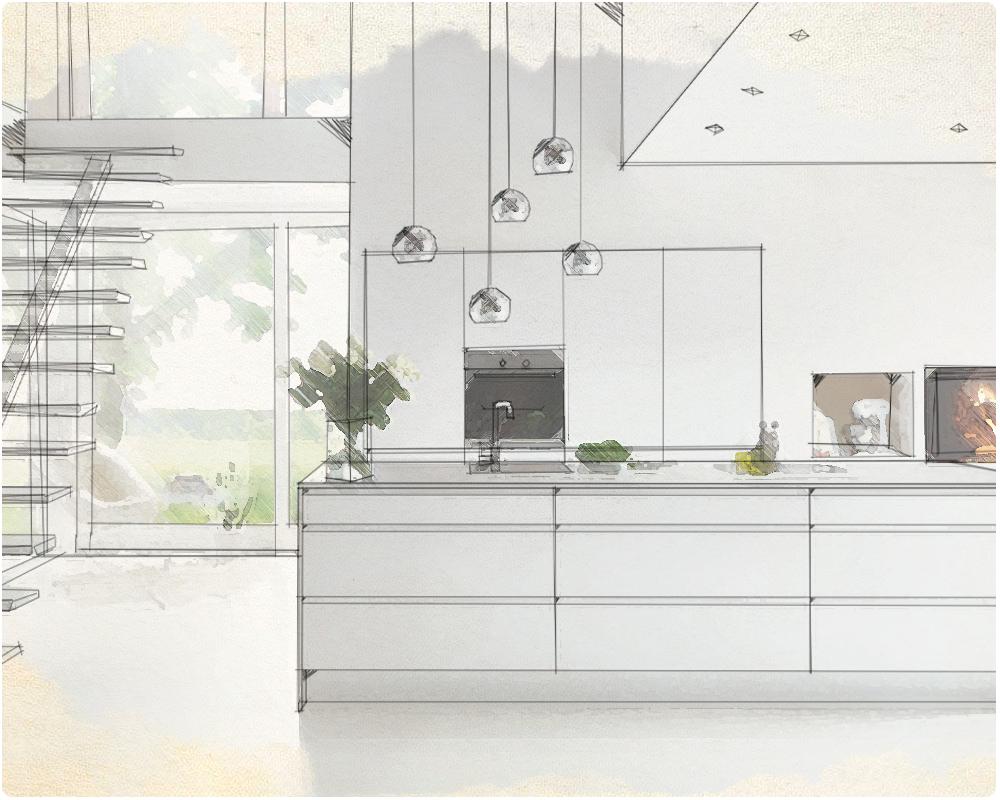 bestil opmåling, 3d-tegning, nyt køkken, Vordingborg Køkkenet