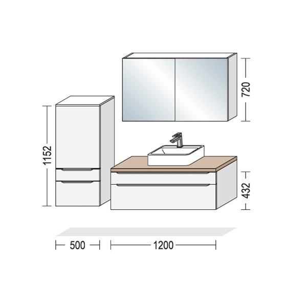 Nyt badeværelse, mål på opstilling, Vordingborg Køkkenet