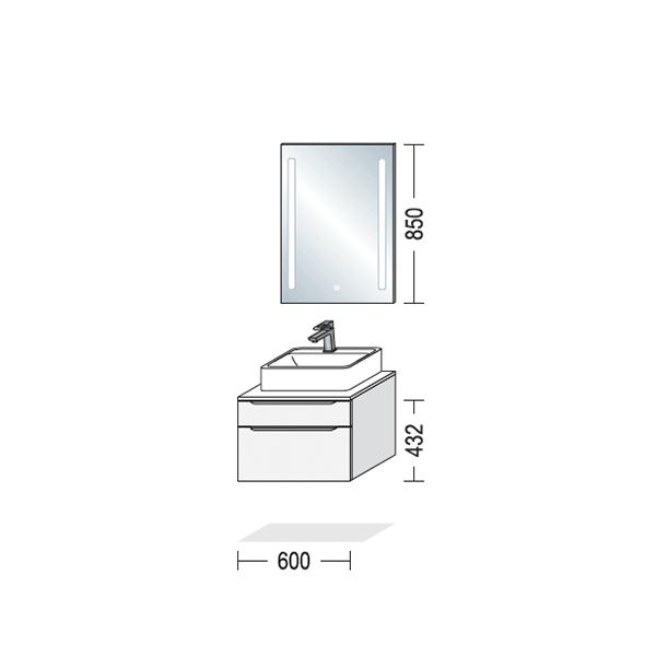 Nyt badeværelsesmøbel, Riva, mål på møbel, Vordingborg Køkkenet