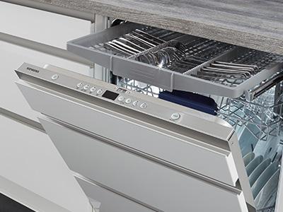 Integreret opvaskemaskine, nyt køkken, Vordingborg Køkkenet