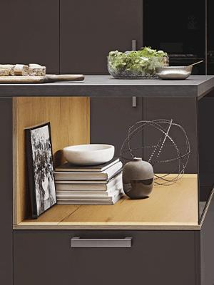 Easytouch, indretning, åbne hylder, nyt køkken, Vordingoborg Køkkenet