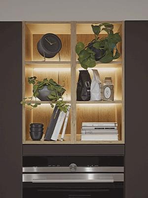 Easytouch, hylder, lys, indretning, nyt køkken, Vordingborg Køkkenet