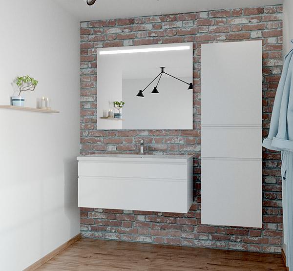 Hvidt grebsfrit badeværelse fra Vordingborg Køkkenet