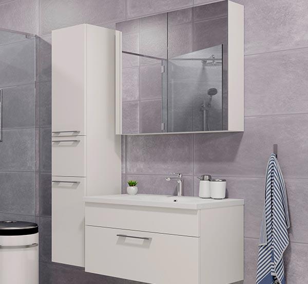 Minimalistiske og industrielle badeværelsesmøbler